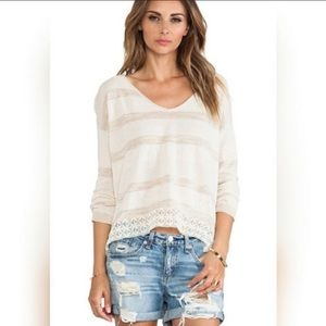 Free People Pebble Dash Lacey Opened Back Top